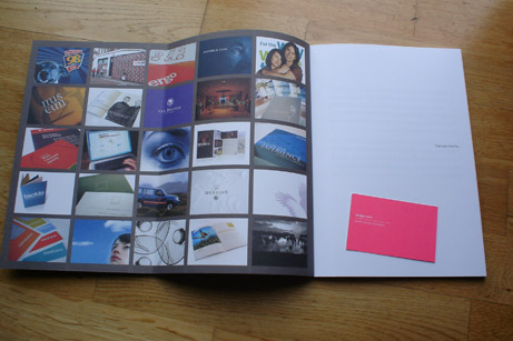 Design Works Identity Book Inside Cover