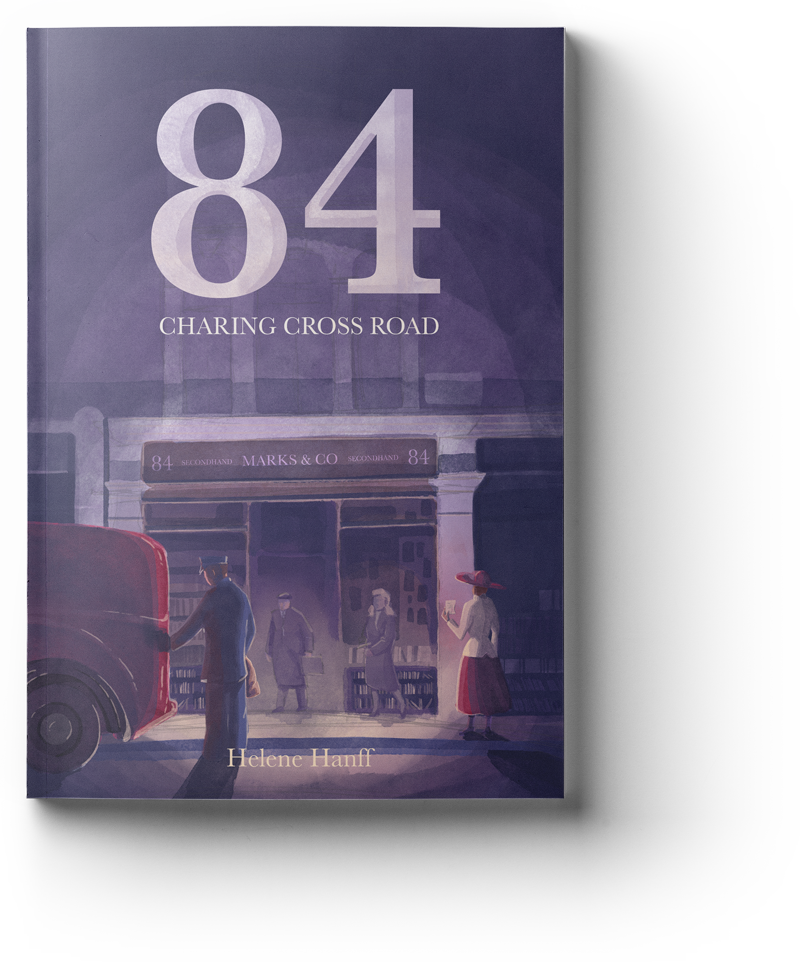 84 charing cross road book cover illustration